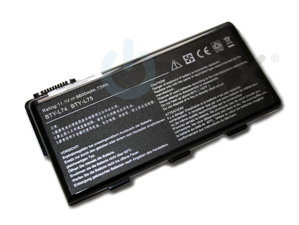 aku baterie pro MSI Typ BTY-L74 6600mAh
