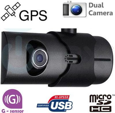 Dual HD DVR kamera do auta Uwing X3000 s GPS a G-senzorem