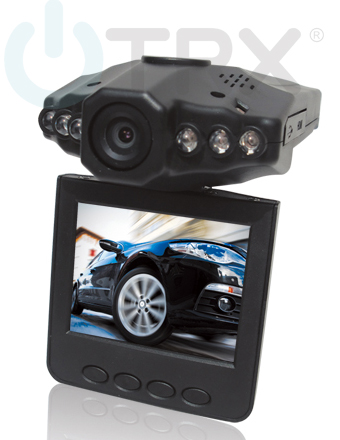 DVR HD kamera do auta Uwing 198F, otočný displej, 6x IR LED