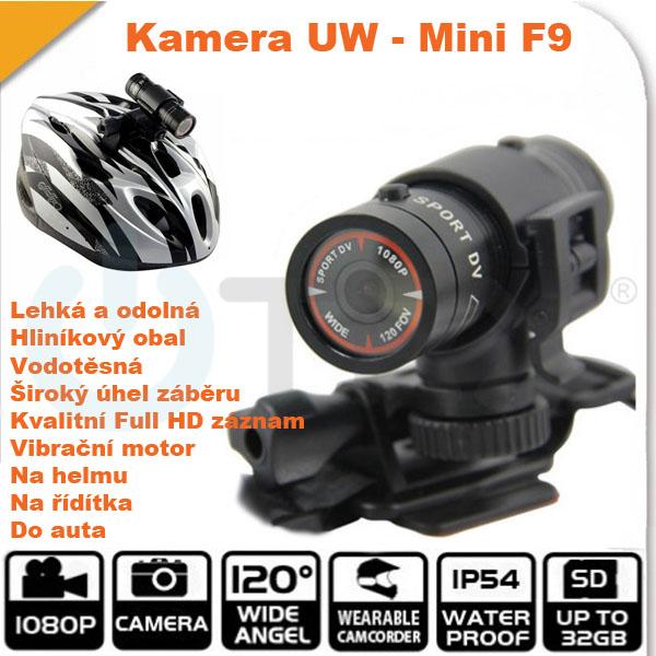 Sportovní outdoorová DVR kamera Uwing Mini F9 DVR - Full HD