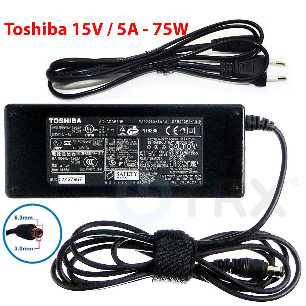 Napájecí zdroj Toshiba PA3201-1ACA 15V/5A 75W 6.3x3.0mm konektor - originální