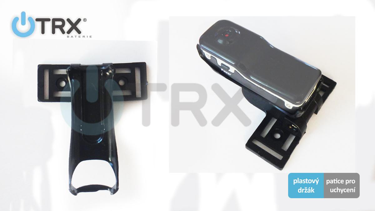 TRX MD80H02 - plastový držák s paticí pro mini kameru Uwing MD80