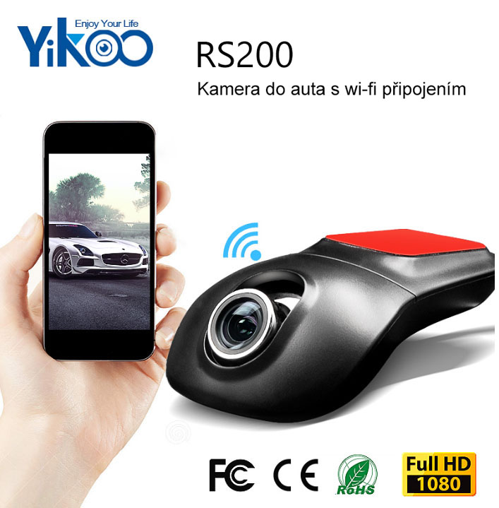 Skrytá kamera do auta Yikoo RS200 - FullHD, WiFi