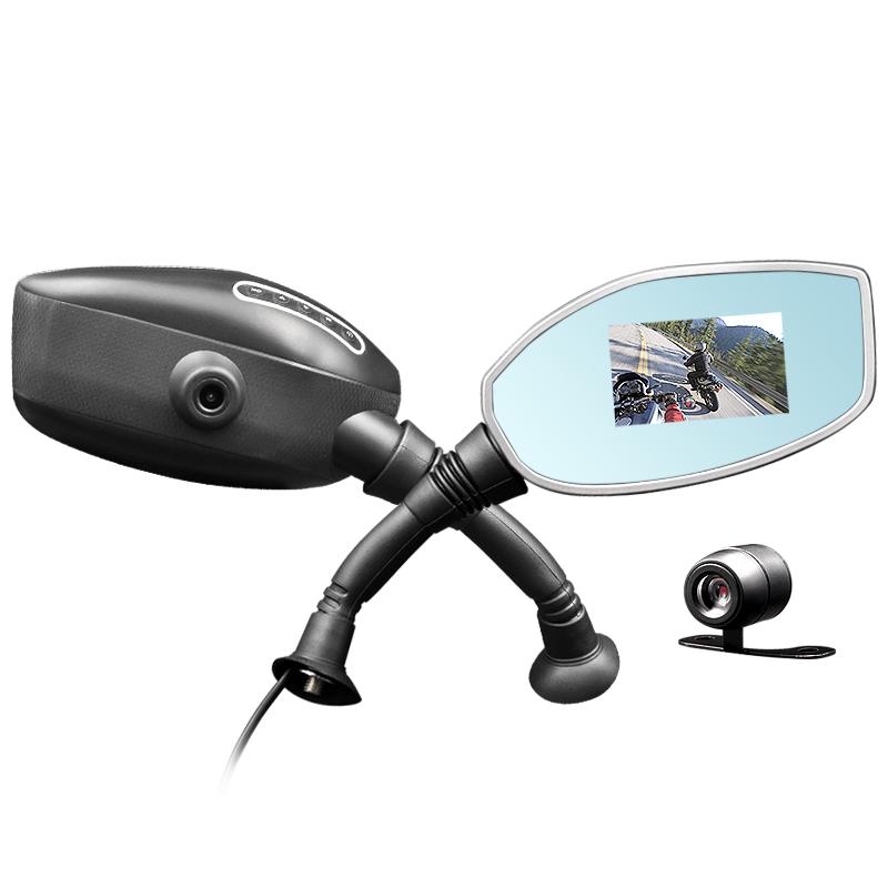 """Duální motocyklová kamera Yikoo M01 - 2,7"""" LCD, zadní kamera"""