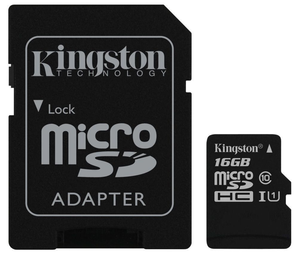 16GB KINGSTON Canvas Select micro SDHC karta/ UHS-I CL10 s adaptérem
