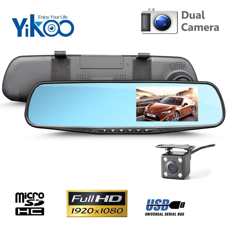 """Kamera do auta Yikoo DV110R - 4,3"""" LCD, Full HD, G-senzor, duální"""