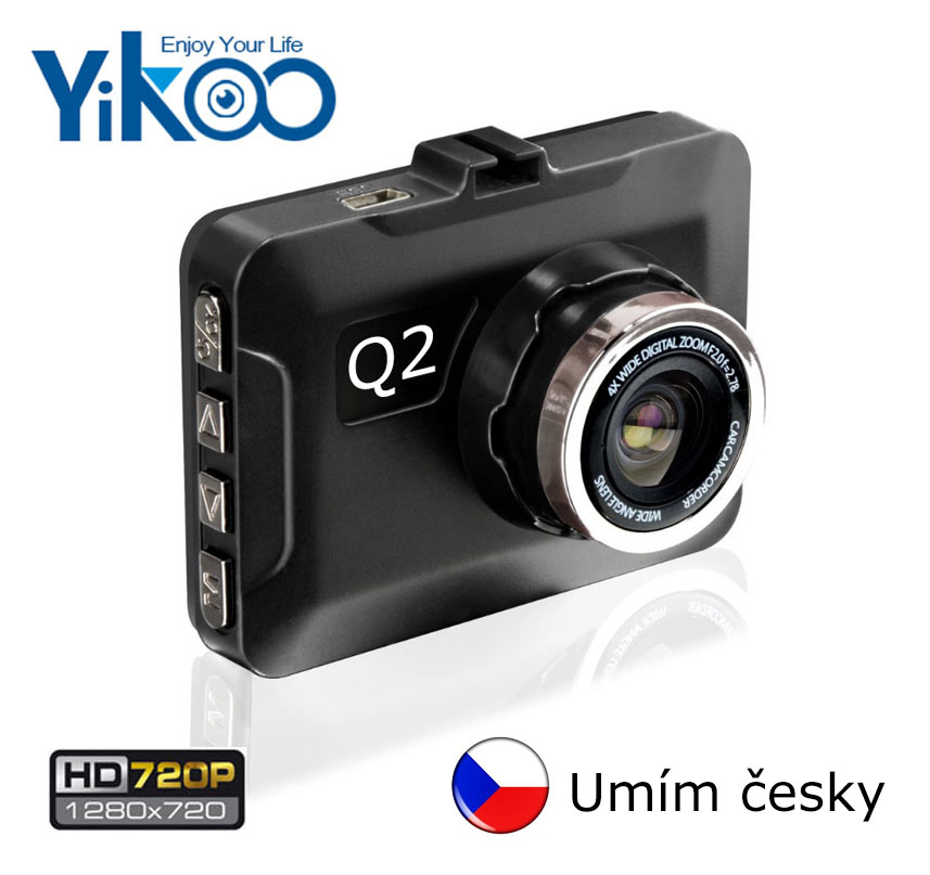 DVR HD kamera do auta Yikoo Q2