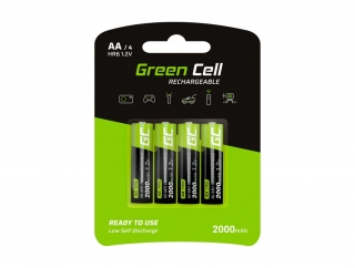 Baterie Green Cell AA 2000mAh 4ks